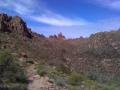 Supertition mt Bluff Trail head, Terrapin, needle cross cut, Red Tank to Lost Dutchman Trail Feb 2010
